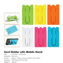 Card Holder with Mobile Stand