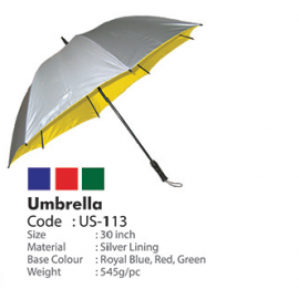 "30"" Silver Coated Umbrella"