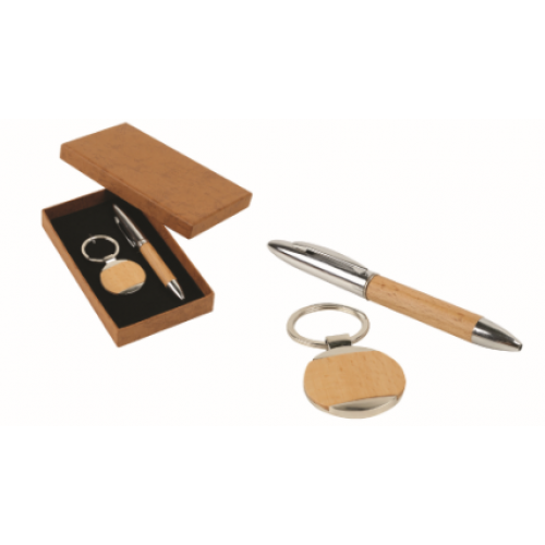 2 in 1 Wooden Gift Set (round)