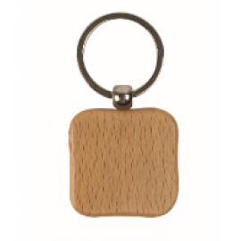 Wooden Square Keychain